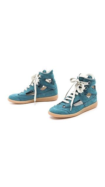 Maison Margiela Suede Cutout Sneakers