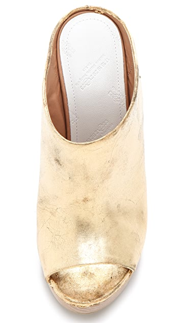 Maison Margiela Metallic Wedged Mules