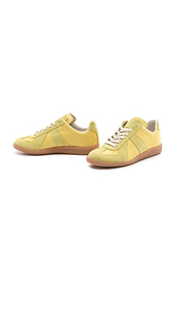 Maison Margiela Lime Sneakers