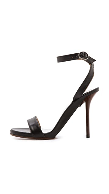 Maison Margiela Wood Grain Heel Sandals
