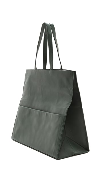 Maison Margiela Leather Fold Over Tote