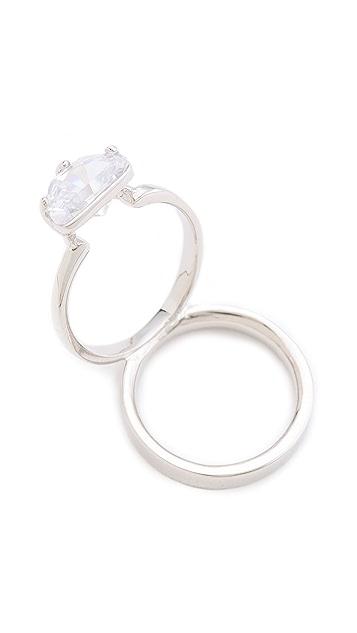 Maison Margiela Crystal Ring on Ring