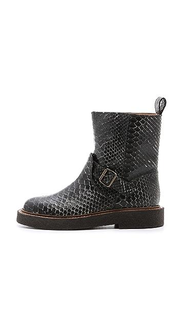 Maison Margiela Coated Snakeskin Boots