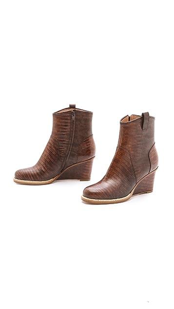 Maison Margiela Leather Wedge Booties