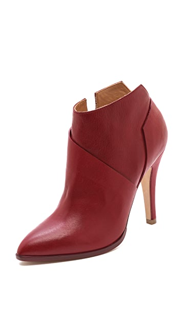 Maison Margiela Leather Asymmetrical Booties