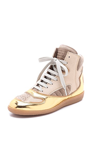 Maison Margiela Leather Sneakers