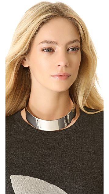 Maison Margiela Silver Choker Necklace