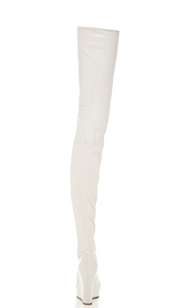 Maison Margiela Thigh High Wedge Boots