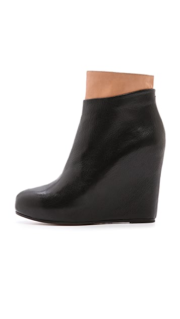 Maison Margiela Leather Platform Booties