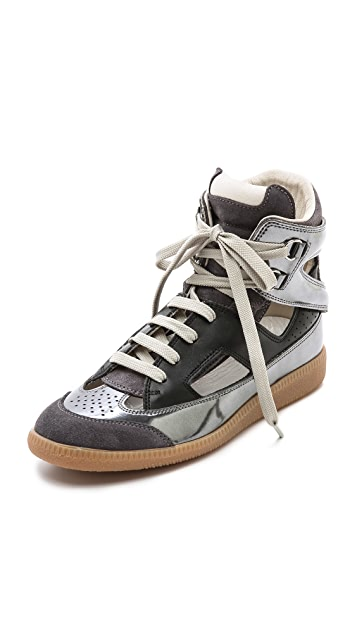 Maison Margiela Cutout Mirrored Sneakers