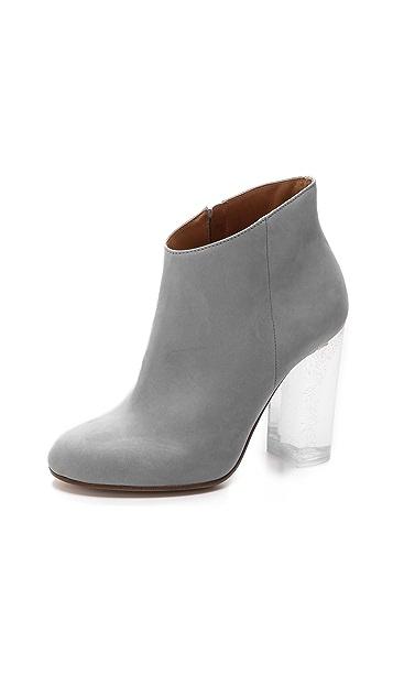 Maison Margiela Glitter Heel Leather Booties