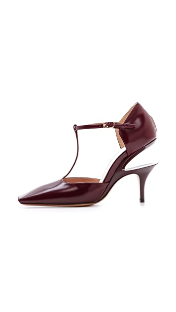 Maison Margiela Leather T-Strap Pumps