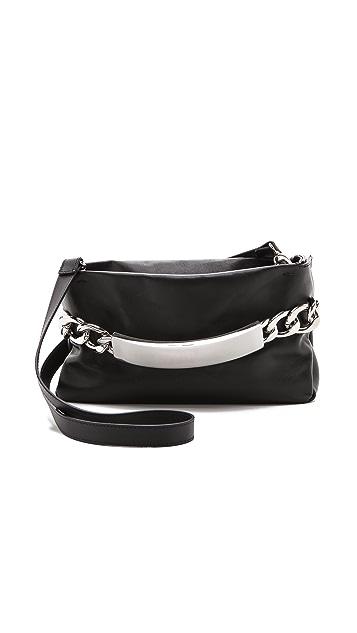 Maison Margiela Chain Lock Leather Clutch