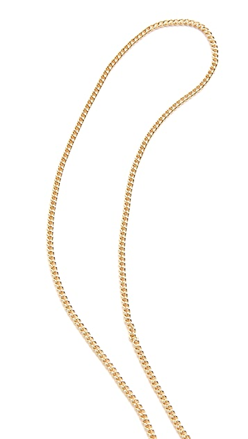 Maison Margiela Solitaire Lariat Necklace