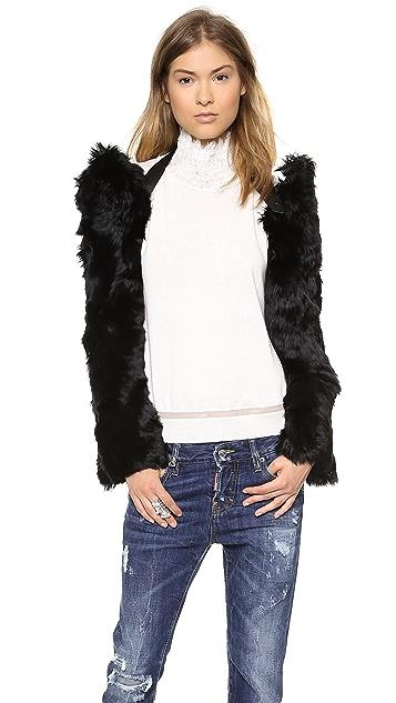 Maison Margiela Alpaca Fur Shrug