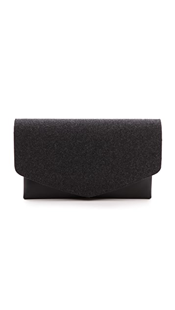 Maison Margiela Felt and Leather Clutch