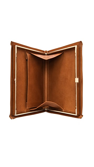 Maison Margiela Leather Book Clutch
