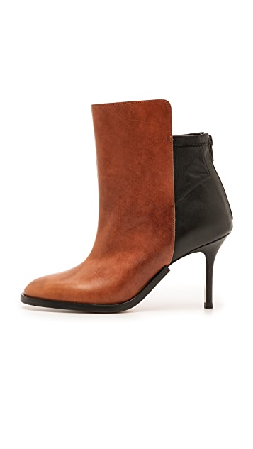 Maison Margiela Two Tone Leather Booties