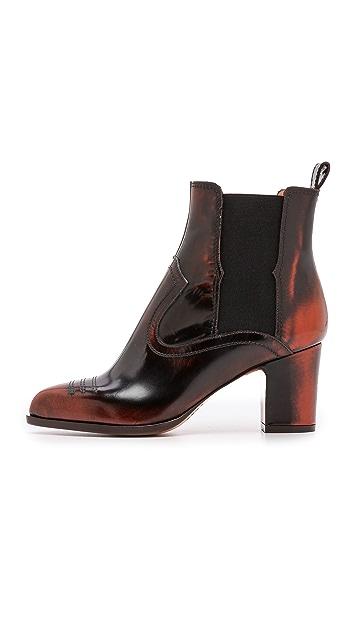 Maison Margiela Tooled Leather Booties