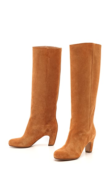 Maison Margiela Suede Knee High Boots