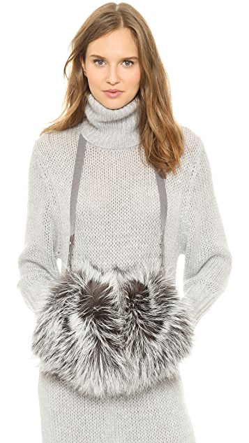 Maison Margiela Silver Fox Fur Muff