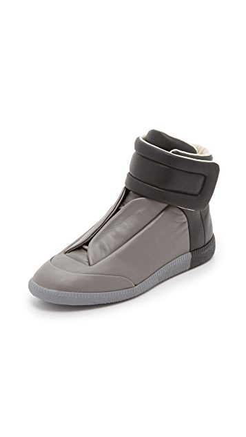 Maison Margiela Leather High Top Sneakers