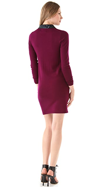 Markus Lupfer Sequined Collar Emma Dress
