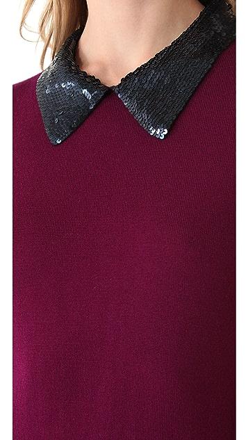 Markus Lupfer Sequined Collar Emma Dress