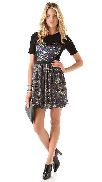 Markus Lupfer Silk Kaleidoscope Dress