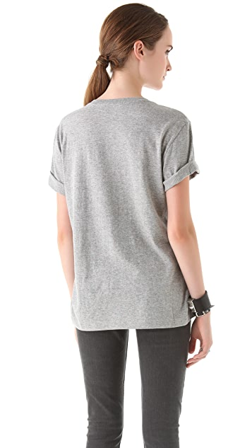 Markus Lupfer Velvet Feather Wing T-Shirt