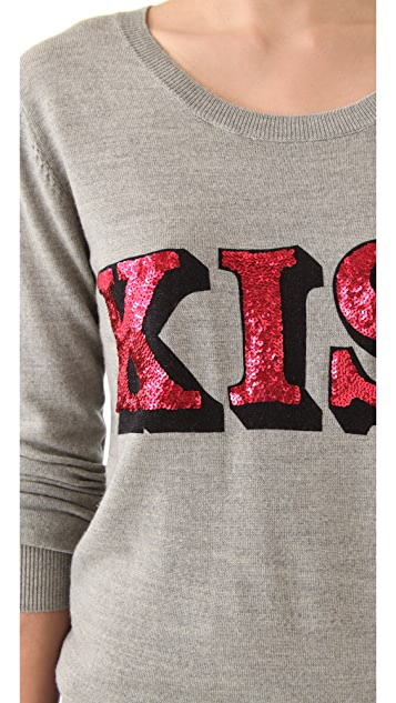 Markus Lupfer Kiss Sequin Sweater
