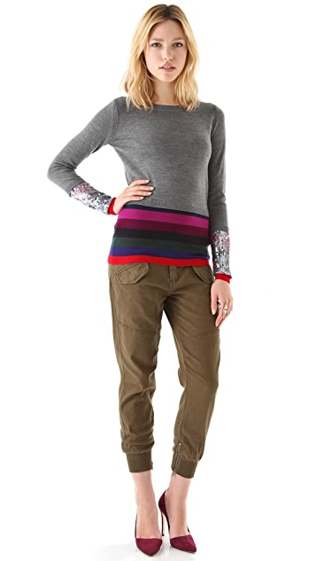 Markus Lupfer Sequin Stripe Sweater