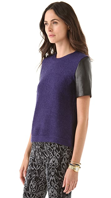 Markus Lupfer Hazy Leather Mohair Tee