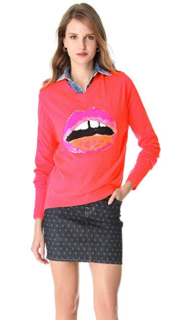 Sequin Lip Sweater