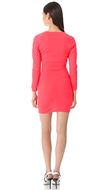 Markus Lupfer Fishnet Eva Dress