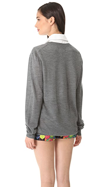 Markus Lupfer Wish You Were Here Sequin Sweater