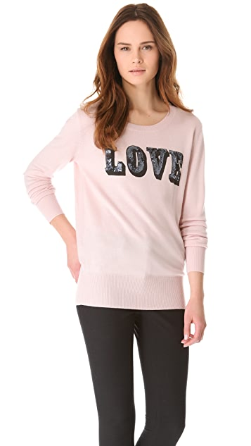 Markus Lupfer Love Sequined Sweater