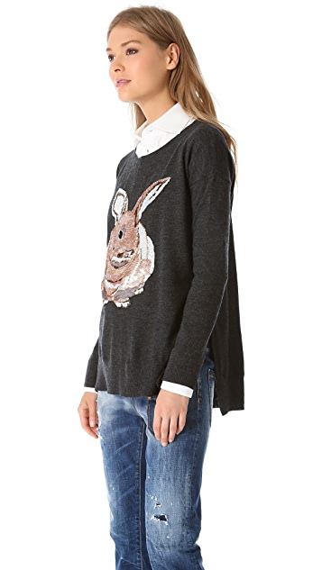 Markus Lupfer Hare Sequin Sweater