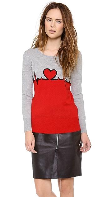 Markus Lupfer Heartbeat Intarsia Sweater
