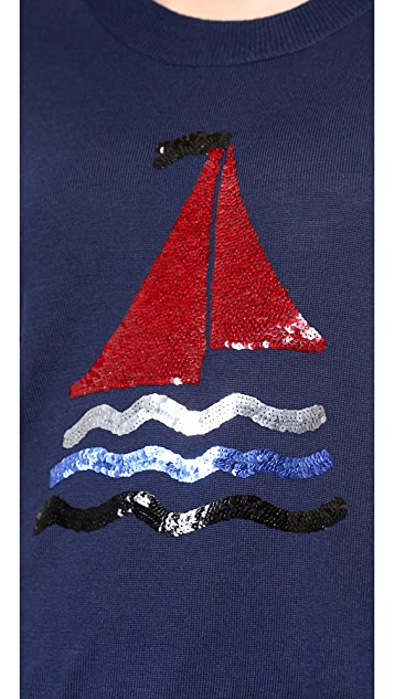 Markus Lupfer Sequin Sailboat Sweater