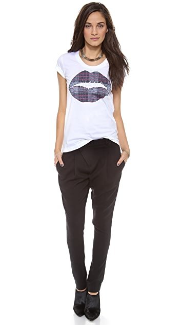 Markus Lupfer Checker Smacker Lip Bella Tee