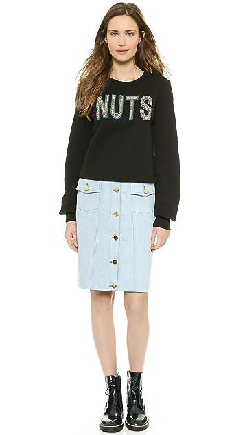 Markus Lupfer Nuts Applique Donna Sweatshirt