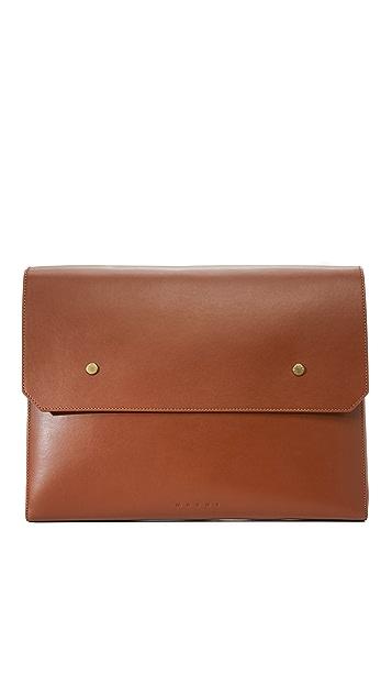 Marni Large Leather Snap Portfolio