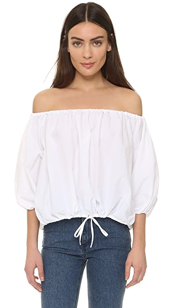 Marques Almeida Off Shoulder Blouse