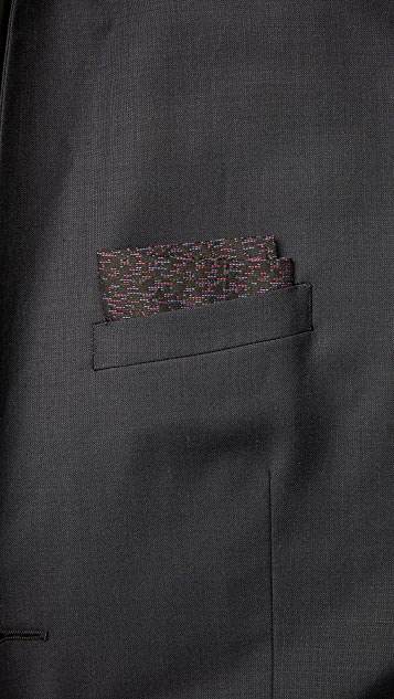 Marwood Dashline Pocket Square