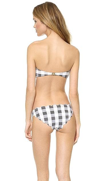 Marysia Swim Scallop Bandeau Bikini Top