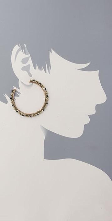 Miguel Ases Multi Gold Hoop Earring