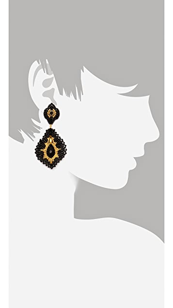 Miguel Ases Onyx Pendent Earrings