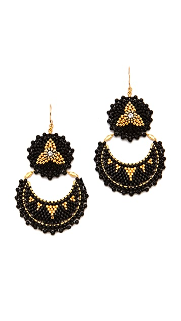 Miguel Ases Onyx Double Drop Earrings