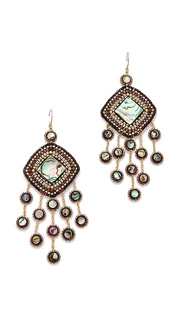 Miguel Ases Abalone & Vermeil Beaded Earrings